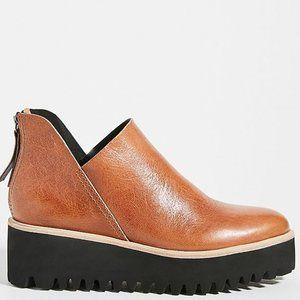 Anthropologie All Black Tread Platform Ankle Boots